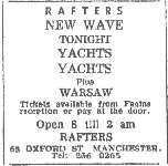 Manchester Evening News advert published 13th October 1977