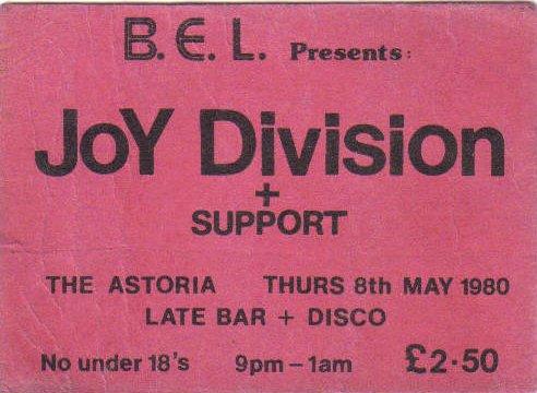Joy Division Concert 8th May 1980 The Astoria Edinburgh